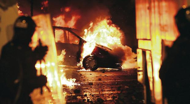 Rioting in Belfast during the summer