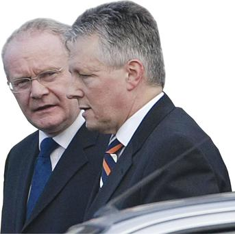 Action: Colonel Tim Collins says the time has come to move on. But is that possible in a place where the two main parties, led by Peter Robinson and Martin McGuinness, despise each other?