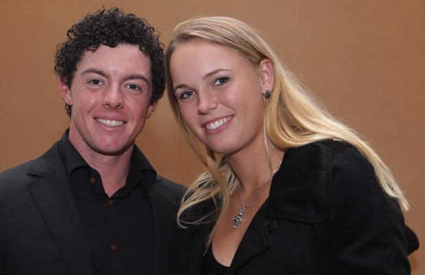 Rory McIlroy and Caroline Wozniacki during happier times