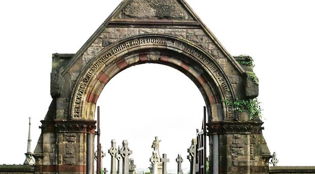 The main entrance to Milltown Cemetery on the Falls Road
