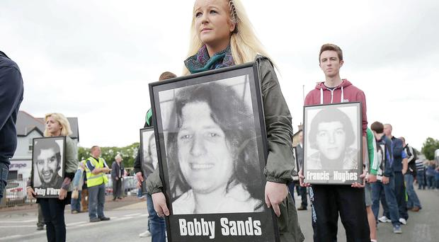 People at the National Hunger Strike Commemoration in Derrylin