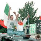 Republicans celebrate after the 1994 cessation is announced