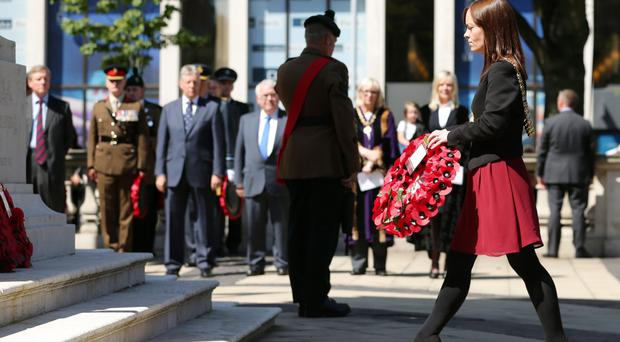 Lord Mayor Nichola Mallon at a Somme ceremony last year