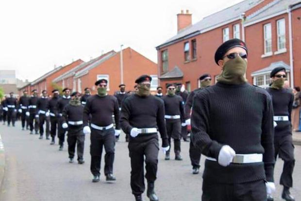 The funeral of Peggy O'Hara, mother of INLA hunger striker Patsy O'Hara