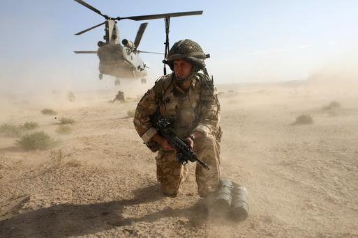 British soldiers on operations in Afghanistan
