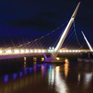 Peace Bridge over the River Foyle