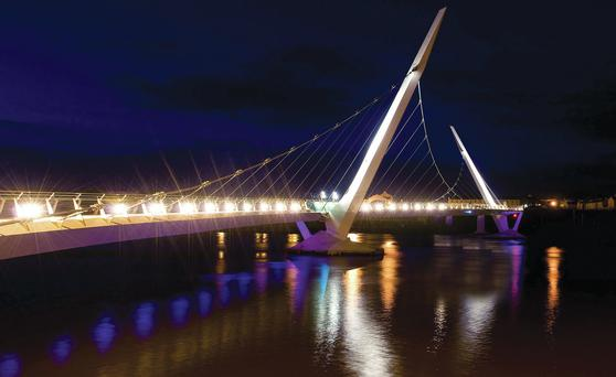 European funds helped build the River Foyle Peace Bridge, linking mainly Catholic and Protestant communities in Londonderry