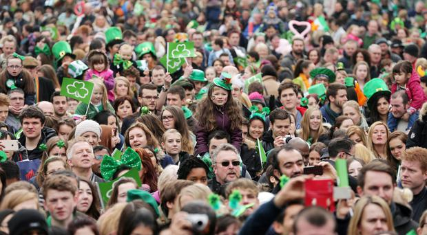 St Patrick's Day carnival parade and concert in Belfast city centre last year