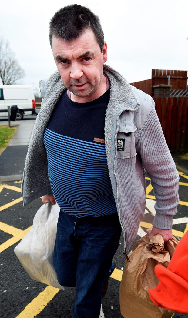 Seamus Daly being released from Maghaberry Prison on March 1, 2016