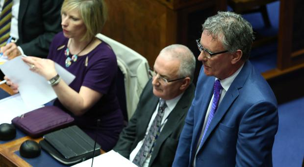 Ulster Unionist Party leader Mike Nesbitt in the Assembly