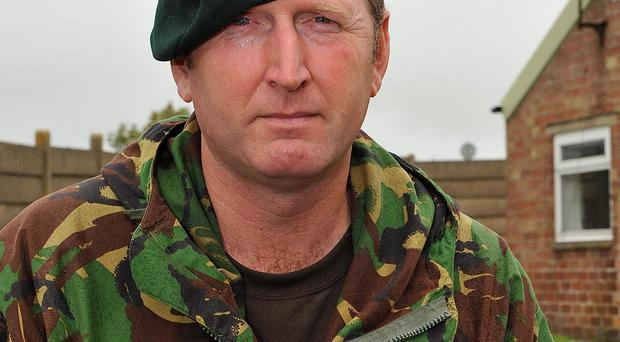 Doug Beattie during his service in the Army