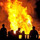 An Eleventh Night bonfire in Newtownabbey