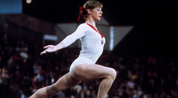 USSR golden girl Olga Korbut in the Munich Olympics