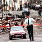 The scene of devastation after the Omagh bomb in August 1998
