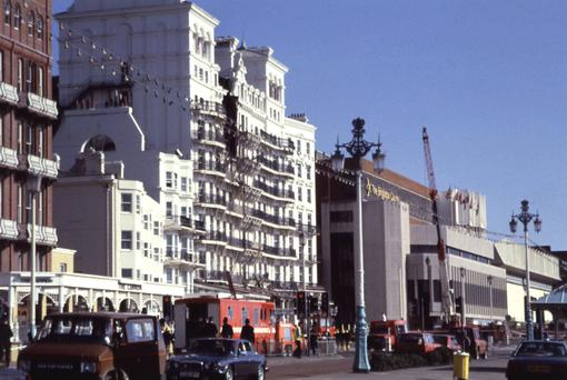 Brighton's Grand Hotel after the 1984 bomb blast