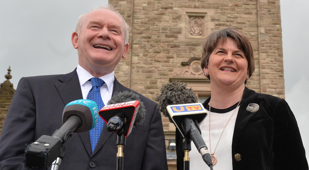 Arlene Foster with Martin McGuinness