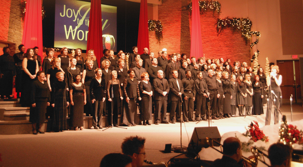 A modern choir in full voice
