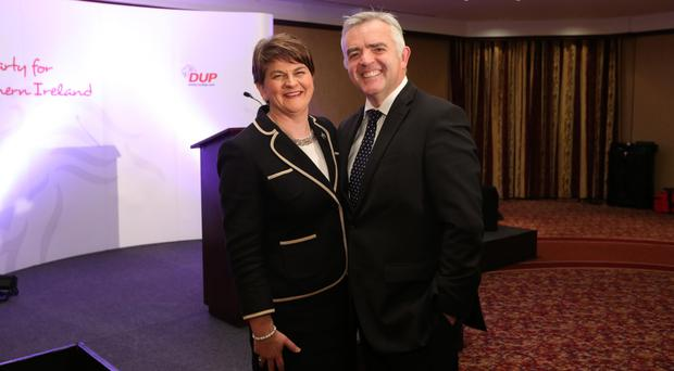 Arlene Foster with Jonathan Bell before RHI scandal rocked the DUP
