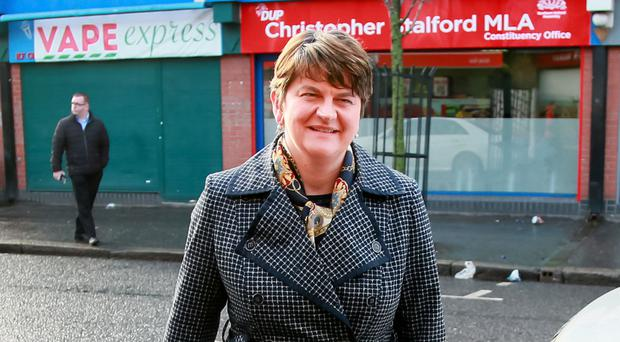 Donald Trump, Arlene Foster (pictured) and Martin McGuinness are expected to dominate the headlines in 2017