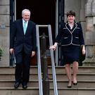 Arelene Foster and Martin McGuinness together before the Executive's collapse