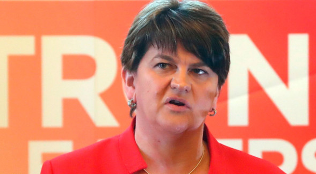 Arlene Foster told Party Members in Newry and Armagh that voting for nationalist candidates was 'dangerous' and risked a border poll.