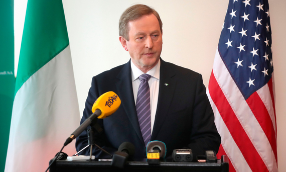 Taoiseach Enda Kenny, in Washington yesterday, will soon be standing down
