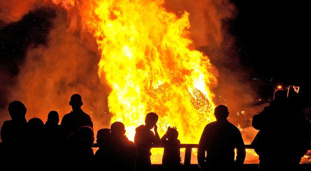 'The decision to introduce an official policy for bonfires built on council land was taken last year after a huge structure was erected on the Lecky Road in the Bogside'