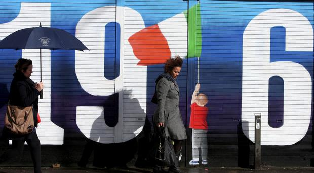 A mural in Dublin's city centre marking centenary of the 1916 Easter Rising