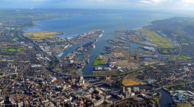 Belfast Harbour. The impact of unification would be disastrous for NI's economy, argues Dr Graham Gudgin
