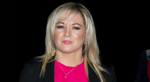 Michelle O'Neill at a vigil in February for four IRA men who were killed by the SAS in Clonoe