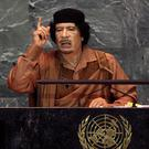 Former Libyan leader Muammar Gaddafi, who was killed by rebel forces in 2011