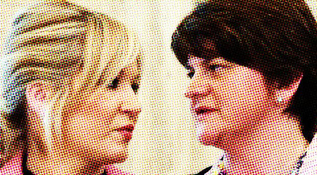 Michelle O'Neill and Arlene Foster have not always seen eye to eye