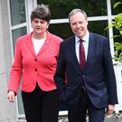 The DUP, including leaders Arlene Foster and Nigel Dodds, have been criticised in Dublin