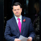 Northern Ireland Secretary James Brokenshire speaking at Stormont earlier this month