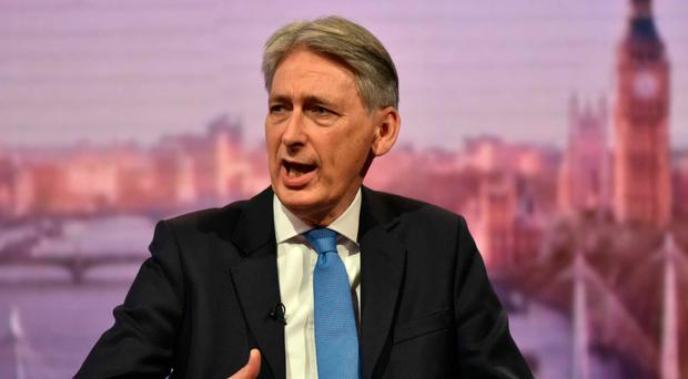 Philip Hammond speaking on The Andrew Marr Show at the weekend