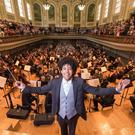 The Ulster Orchestra performing in the Ulster Hall