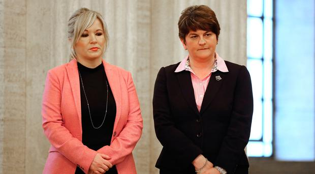 Sinn Fein's Michelle O'Neill and the DUP's Arlene Foster