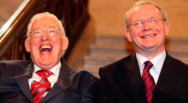 Ian Paisley and Martin McGuinness as First and deputy First Ministers