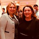 Secretary of State Karen Bradley with FSB NI policy chair Tina McKenzie in the US on St Patrick's Day
