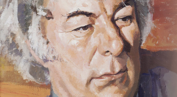 A portrait of Irish poet Seamus Heaney