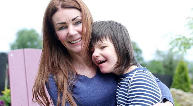 Billy Caldwell with his mother Charlotte at their Co Tyrone home