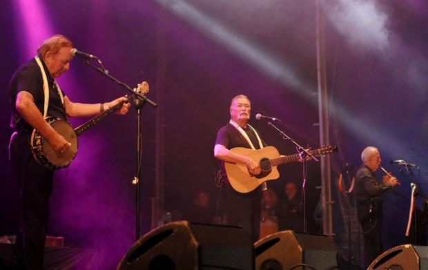 Republican folk band The Wolfe Tones playing at Feile this year