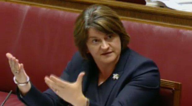 Arlene Foster giving evidence to the RHI Inquiry