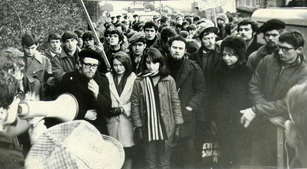 A civil rights protest in Derry in the late-1960s