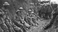 Soldiers from the 36th (Ulster) Division at the Somme in 1916. While it's right to mark the sacrifice of so many, let's acknowledge their blood was needlessly spilled on altar of empire