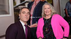 James Nesbitt with Mary Hannon-Fletcher at the RVH last week