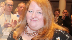 Naomi Long at last week's Alliance Party conference
