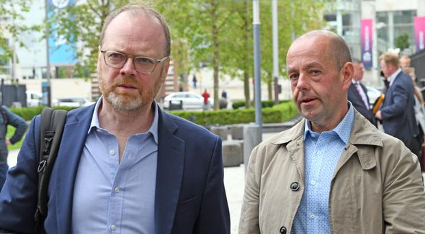 Loughinisland documentary film makers Trevor Birney (left) and Barry McCaffrey