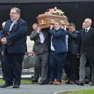 The funeral of Beatrice Worton yesterday