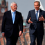 Former Prime Ministers Sir John Major and Tony Blair in Derry in 2016
